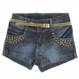 Shorts Have Fun Infantil Juvenil Menina Tachas e Cinto - 245