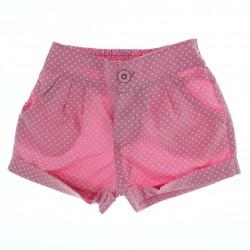 Shorts Have Fun Infantil Menina Poa Bolso Barra Virada 27825