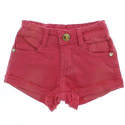 Shorts Have Fun Infatil Menina Sarja Bolso Estampado Aplique