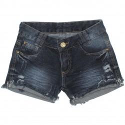 Shorts Jeans Akiyoshi Menina Spike Barra Desfiada 30450