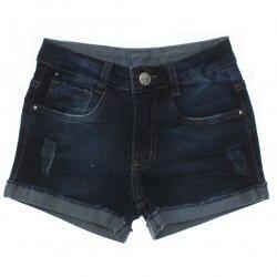 Shorts Jeans Frommer Menina Beautys Bordado e Puido 31871