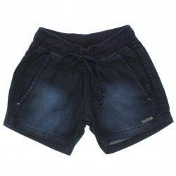 Shorts Jeans Frommer Menina Cos Punho e Aplique Placa 31872