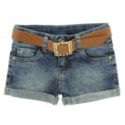 Shorts Jeans Garota Lua Infantil Juvenil Barra Virada 29164