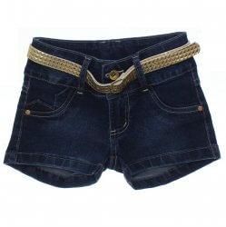 Shorts Jeans Infantil Jump Club Botão Duplo Cinto 31865