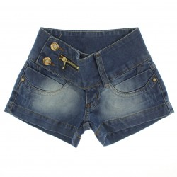 Shorts Jeans Sonho de Amor Infantil Juvenil Ziper Botão27444