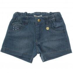 Shorts Jeans Trick Nick Menina Strass Bolso e Pingente 31635