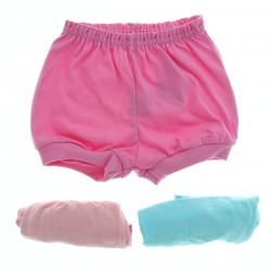 Shorts Kit Petutinha Bebê Menina Liso Tapa Fralda c/3 27438