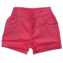 Shorts Sarja Infantil Colorittá Aplique Strass no Bolso 31505