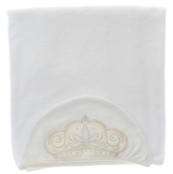 Toalha Paraíso Menina Capuz Coroa Forrada - 29516