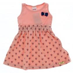 Vestido Alakazoo Infantil Barrado Estampado 28800
