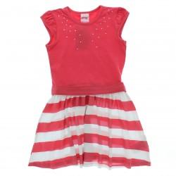 Vestido Alakazoo Infantil Juvenil Barra Listrada Strass