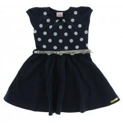 Vestido Alakazoo Infantil Poá Com Cinto 28840