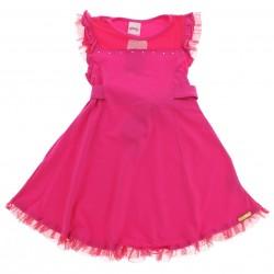 Vestido Alakazoo Infantil Recorte Ombro Tule Strass 28814