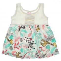 Vestido Brandili Bebê Malha Barra Estampa Girafa 31423