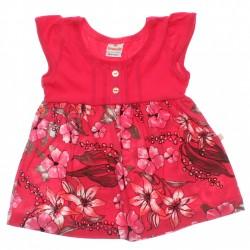 Vestido Brandili Bebê Malha Barra Floral e Botão 29954