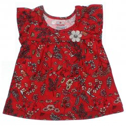 Vestido Brandili Bebê Malha Estampa Floral 31541