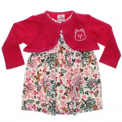 Vestido Brandili Bebê Menina Bolero Estampa Floresta 30946