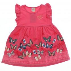Vestido Brandili Club Infantil Barrado Borboletas Poa 28623