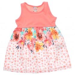 Vestido Brandili Club Infantil Estampado Floral Coração 2998