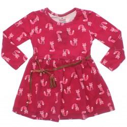 Vestido Brandili Cotton Menina Cotton Estampa Raposa 30940