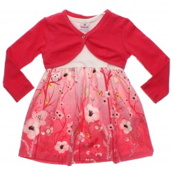 Vestido Brandili Infantil Bolero e Barra Floral 31048