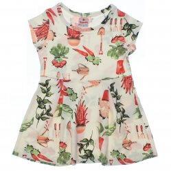 Vestido Brandili Infantil Cotton Jardinagem 31551