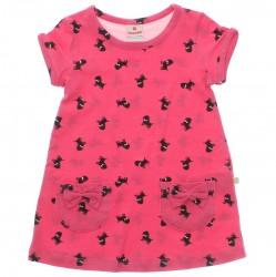 Vestido Brandili Infantil Cotton Pets Aplique Laços 29959