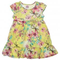 Vestido Brandili Infantil Estampa Floral com Libélulas 31455
