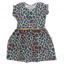 Vestido Brandili Infantil Estampa On�a Cinto 28566