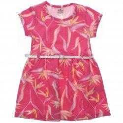 Vestido Brandili Infantil Floral com Cinto Glitter 31553