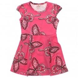 Vestido Brandili Infantil Juvenil Borboleta Strass Gola 2996