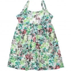 Vestido Brandili Infantil Juvenil Floral Alça Transpassada 30660