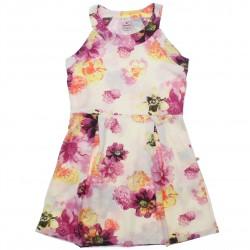 Vestido Brandili Infantil Juvenil Floral Pregas 30659