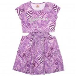 Vestido Brandili Infantil Juvenil Recorte Cintura Trop 29940