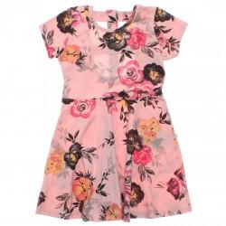 Vestido Brandili Infantil Juvenil Recorte Costas Floral 2996