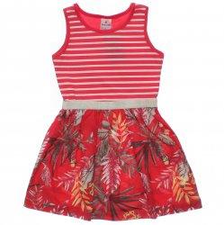 Vestido Brandili Infantil Listrado com Barra Floral 31531