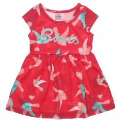 Vestido Brandili Infantil Malha Bordado Birds 31437