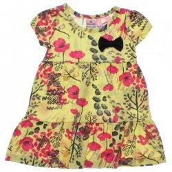 Vestido Brandili Infantil Malha Estampa Flores 31548