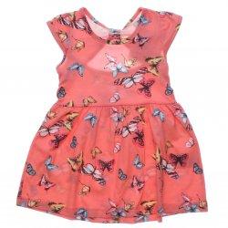 Vestido Brandili Infantil Malha Estampado Borboletas 31424