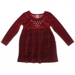Vestido Brandili Infantil Plush Aplique Tachas 29329