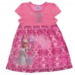 Vestido Disney Frozen Aplique Tachas Estampa Elza 28653