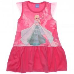 Vestido Disney Frozen Infantil Estampado Barra Tule 29999