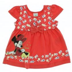 Vestido Disney Minnie Infantil Barra Estampa Flor 28829