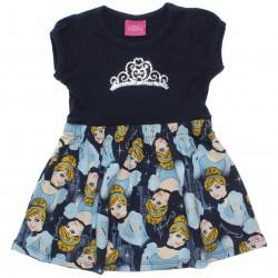 Vestido Disney Princesas Infantil Barra Estampa Cinderela 30652