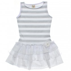 Vestido Have Fun Infantil Babado Estampado e Flor 30704