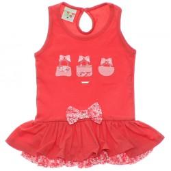 Vestido Have Fun Infantil Bordado Bolsa Tachas 30199