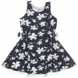 Vestido Have Fun Infantil Laço Cintura Babado 30189