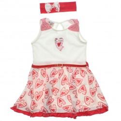 Vestido Have Fun Infantil Laço Ombro Coração 30732