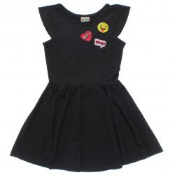 Vestido Have Fun Infantil Liso Bordado Botton 31737
