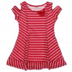 Vestido Have Fun Infantil Listrado Flor com Strass 31738
